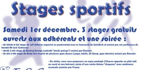 Stages sportifs - Décembre 2018