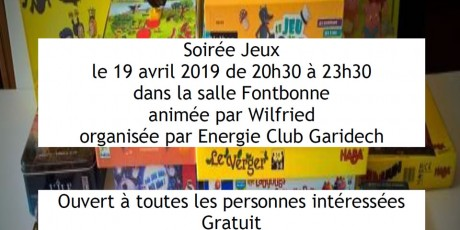 Soirée ludothèque - Avril 2019