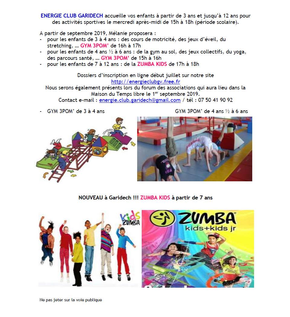 Activités enfants 2019-2020